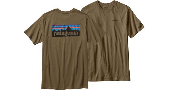 Patagonia P-6 Logo T-Shirt Men Fatigue Green